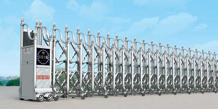 Cửa cổng xếp inox THP-084