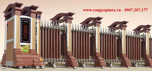 Cửa cổng xếp inox THP-076