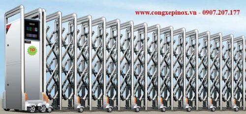 Cửa cổng xếp inox THP-078