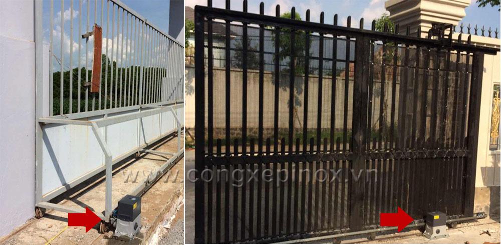 Hình ảnh thật tế motor cửa cổng cổng trượt baisheng