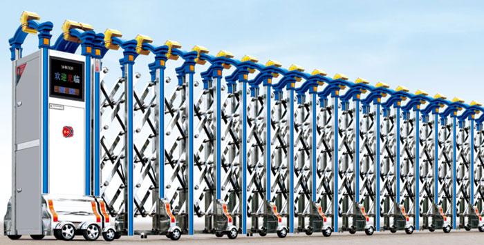 Cửa cổng xếp inox tự động THP-602
