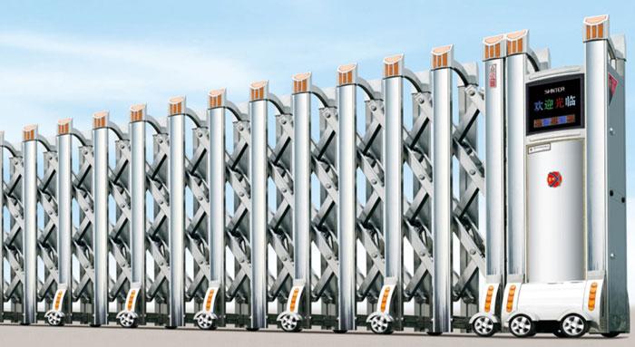 Cửa cổng xếp inox tự động THP-603