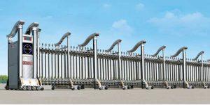 Cửa cổng xếp inox THP-043