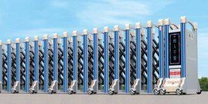Cửa cổng xếp hợp kim nhôm THP-100