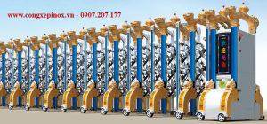Cửa cổng xếp hợp kim nhôm THP-112