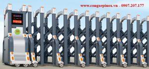 Cửa cổng xếp hợp kim nhôm THP-114