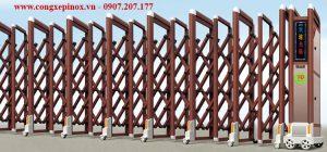 Cửa cổng xếp tự đông THP-116