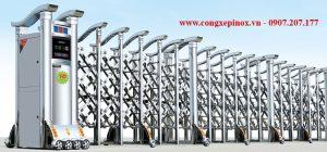 Cửa cổng xếp inox 201 THP-155