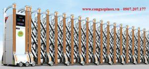 Thông số kỹ thuật của cửa cổng xếp inox THP-067