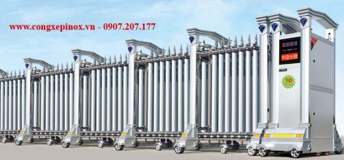Cửa cổng xếp inox THP-072