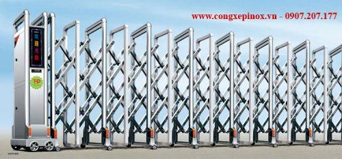 Cửa cổng xếp inox THP-077