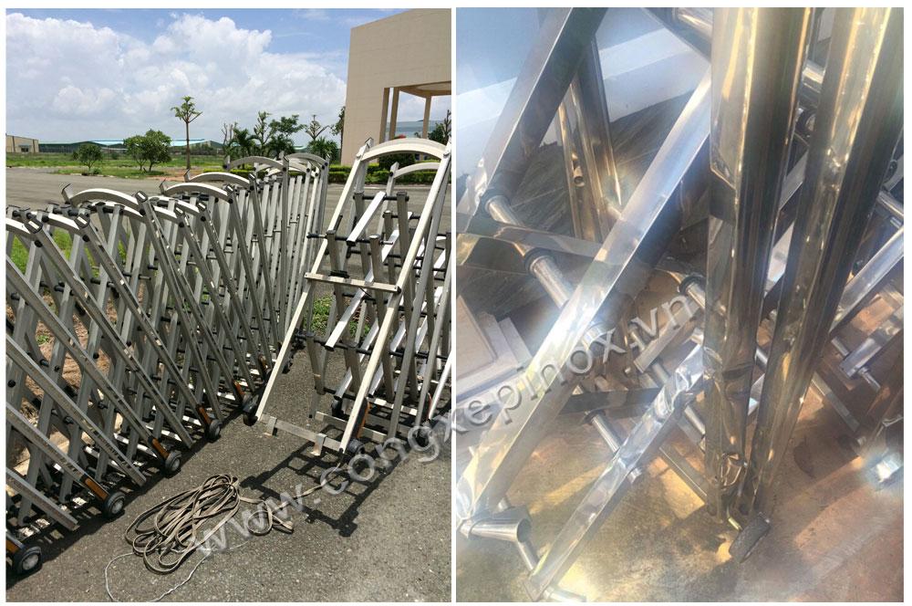 sửa chữa cổng xếp inox bị gãy
