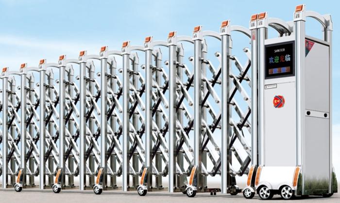 Cửa cổng xếp inox tự động THP-600