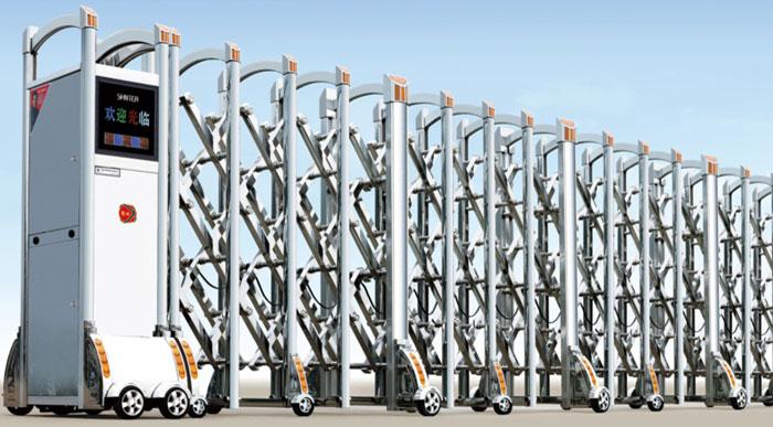 Cửa cổng xếp inox tự động THP-605