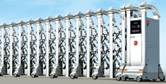 Cửa cổng xếp inox chạy điện THP-610