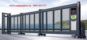 Cửa cổng lùa xếp tự động THP-61