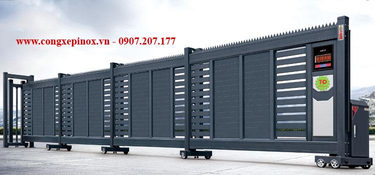 Cửa cổng xếp lùa tự động THP-63