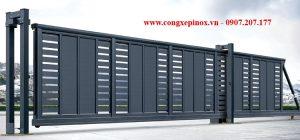 Cửa cổng trượt chạy điện THP-23