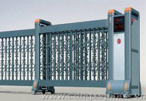 Cửa cổng trượt xếp tự động THP-62