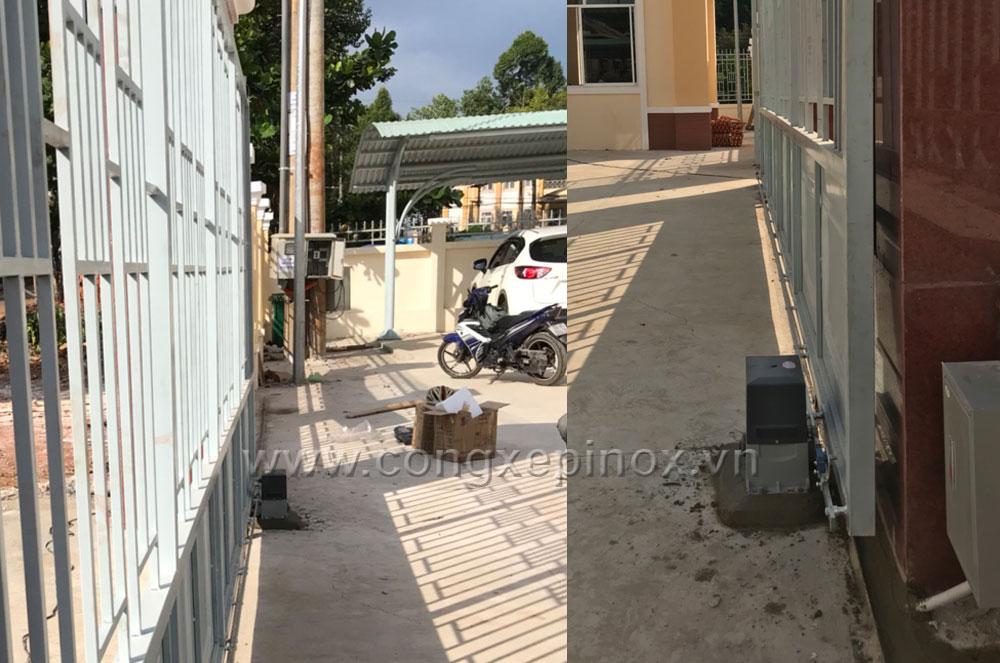 Công trình lắp đặt mô tơ cửa cổng lùa tại chi cục Thuế huyện Bù Đăng