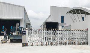 Công trình cửa cổng xếp tự động tại khu công nghiệp Sóng Thần 3